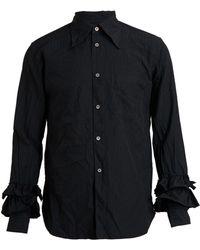 Comme Des Garçons Crinkle Jacquard Shirt - Lyst