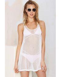 Nasty Gal Quinn Net Dress - Lyst