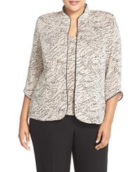 Alex Evenings | Foiled Print Twinset | Lyst