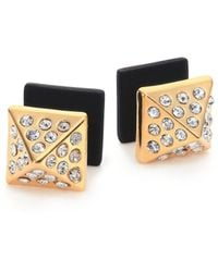 Marc By Marc Jacobs Pyramid Two-Sided Stud Earrings black - Lyst