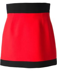 Fausto Puglisi Colour Block Mini Skirt - Lyst