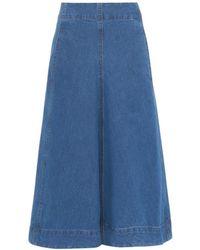 Lemaire Stonewash Denim Skirt blue - Lyst