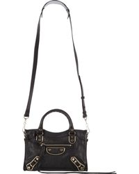Balenciaga Classic Metallic Edge Mini City - Lyst