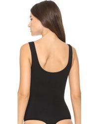 Yummie By Heather Thomson | Ruby Scoop Neck Bodysuit - Black | Lyst