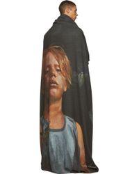 Undercover - Dark Grey Portrait Print Oversized Blanket Scarf - Lyst