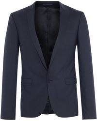 The Idle Man Suit Jacket In Skinny Fit - Navy - Lyst