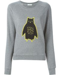 Paul by Paul Smith - Owl Appliqué Sweatshirt - Lyst