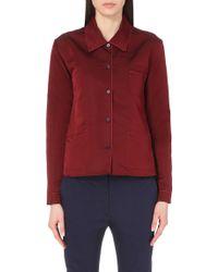 Jil Sander Tullia Silk-Satin Shirt - For Women - Lyst