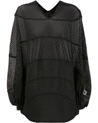 Issey Miyake Drop-sleeve Net Top - Lyst