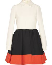 Valentino Wool and Silkblend Mini Dress - Lyst