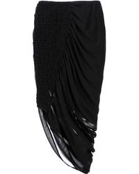 McQ by Alexander McQueen 3/4 Length Skirt black - Lyst