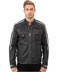 Affliction - American Rebel Leather Moto Jacket - Lyst