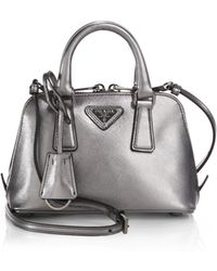 prada bags black leather - Prada Saffiano Stencil Print Chain Bag in Red (lacca) | Lyst