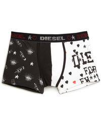 Diesel Umbx-Damien Print Boxer Briefs black - Lyst
