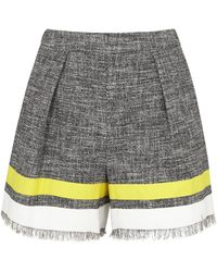 MSGM Striped Tweed Shorts - Lyst