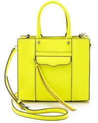 Rebecca Minkoff Mini Mab Tote - Electric Yellow - Lyst