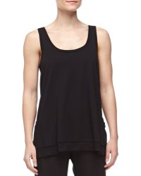 Donna Karan New York Long Pima Jersey Lounge Tank Black - Lyst