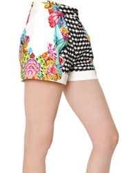 Manish Arora Printed Peached Cotton Shorts - Lyst