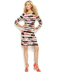 Inc International Concepts Mixed-Print Bodycon Dress - Lyst
