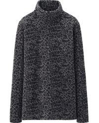 Uniqlo Women Heattech Fleece Turtle Neck Long Sleeve T - Lyst