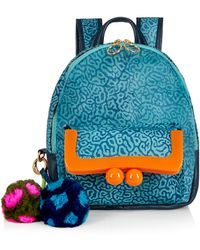 House of Holland - Natural Hair Backpack - Blue - Lyst