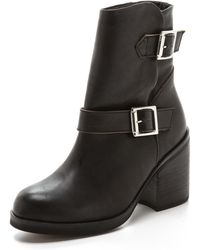 Jeffrey Campbell Shearling Lined Boots - Black - Lyst