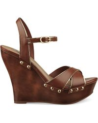 G by Guess Womens Selenah Platform Wedge Sandals - Lyst