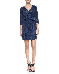 Diane von Furstenberg New Julian Two Wrap Minidress - Lyst