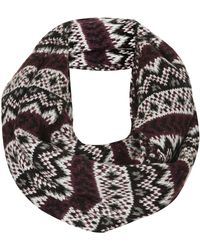 Topshop Womens Fairisle Snood Black - Lyst