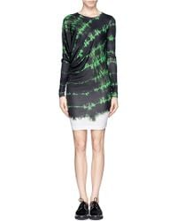 Stella McCartney Asymmetric Drape Tie Dye Print Jersey Dress - Lyst