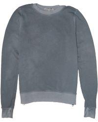 Cotton Citizen Zipped Crewneck Sweatshirt gray - Lyst
