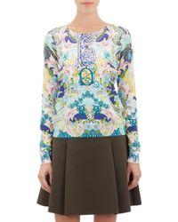 Mary Katrantzou Mixed-print Sweater - Lyst