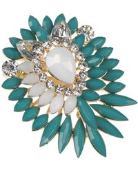 Stefanel Decorated Brooch - Lyst