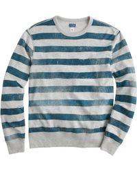 J.Crew Lightweight Sweatshirt In Distressed Stripe green - Lyst