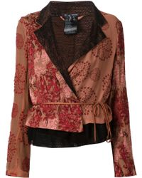 Ann Demeulemeester Embroidered Wrap Jacket - Lyst