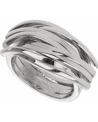 TOPSHOP - Wavy Metal Ring - Lyst
