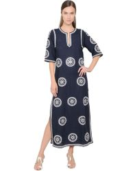 Tory Burch Embroidered Tunic Dress - Lyst
