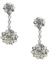 Oscar de la Renta Jeweled Drop Earrings Jeweled Drop Earrings - Lyst