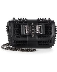 Christian Louboutin Sweet Charity Studded Shoulder Bag - Lyst