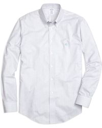 Brooks Brothers Non-Iron Madison Fit Track Stripe Sport Shirt - Lyst