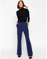 Asos Tailored Flare Pant blue - Lyst