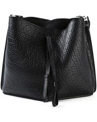 Maison Margiela Small Black Pebbled Leather Bag - Lyst