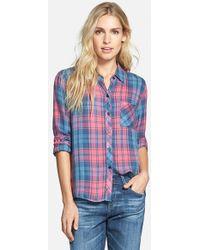Rails 'Hunter' Plaid Button Front Shirt - Lyst