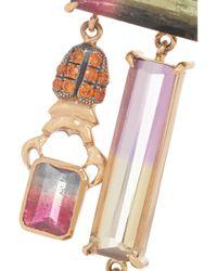 Daniela Villegas - Oompa Loompa 18-Karat Rose Gold Multi-Stone Earrings - Lyst
