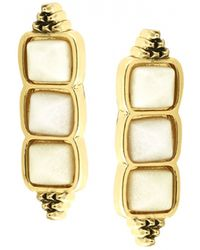 House Of Harlow Sugarloaf Bar Earrings Ivory - Lyst