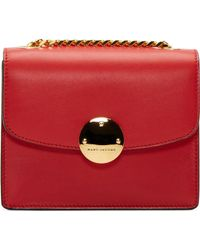 Marc Jacobs Red Leather Gold Chain Mini Trouble Box Bag - Lyst