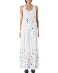 Mara Hoffman Embroidered Tank Top - Lyst