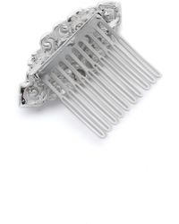 Ben-Amun - Deco Crystal Hair Comb - Clear - Lyst