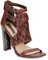 BCBGMAXAZRIA Pixy Woven Leather Sandals - Lyst