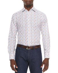 Etro Small-Paisley Long-Sleeve Sport Shirt - Lyst